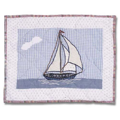Nautical Cotton Crib Toss Pillow