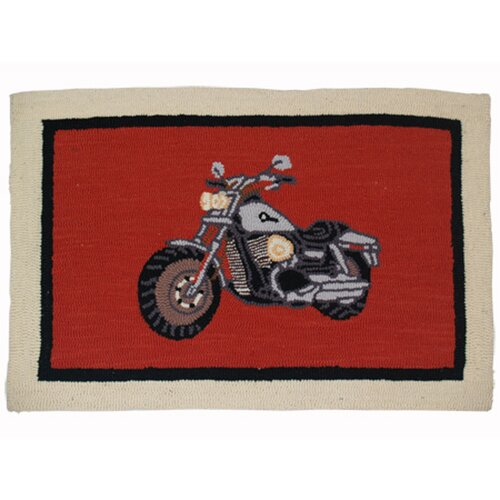 Motor Cycle Rect Novelty Rug