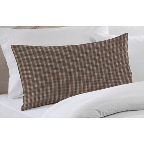 Brown and White Plaid Pillow Sham