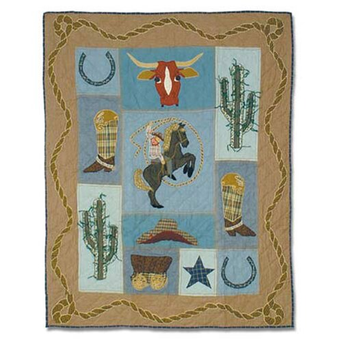 Patch Magic Cowboy Cotton Crib Quilt