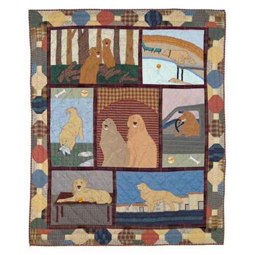 Golden Friends Cotton Throw