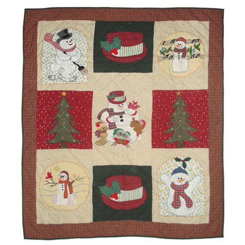 Jolly Snowmen Cotton Throw