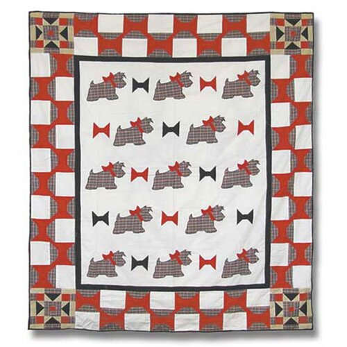 Patch Magic Scottie Cotton Throw