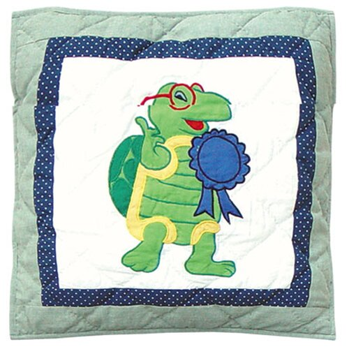 Patch Magic Green Scene Cotton Toss Pillow