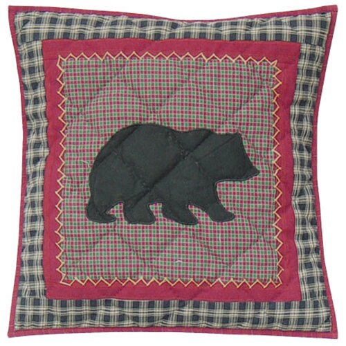 Patch Magic Winter North Woods Cotton Toss Pillow