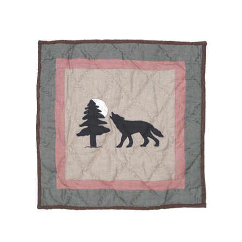 Wolf Trail Cotton Toss Pillow