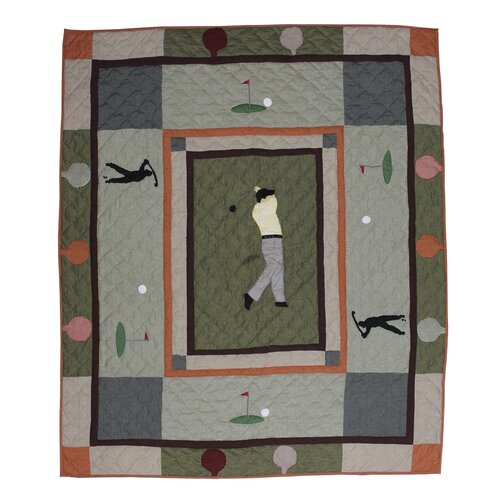 Golfer's Trail Cotton Throw