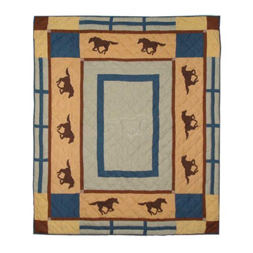Horse Trail Cotton Throw