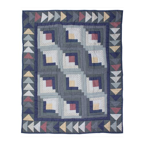 Sail Log Cabin Crib Quilt