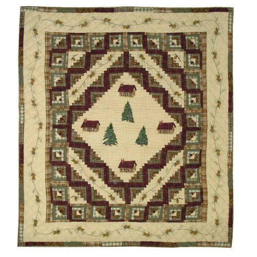 Patch Magic Forest Log Cabin Quilt
