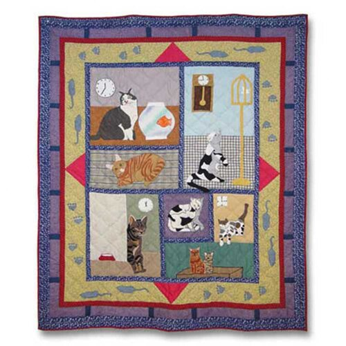 Patch Magic Cats Cotton Throw
