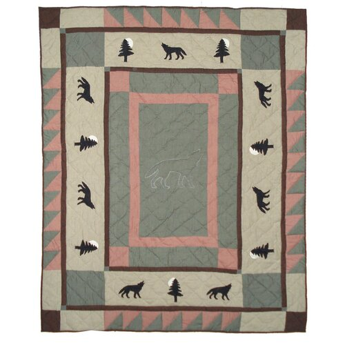 Wolf Trail Cotton Throw
