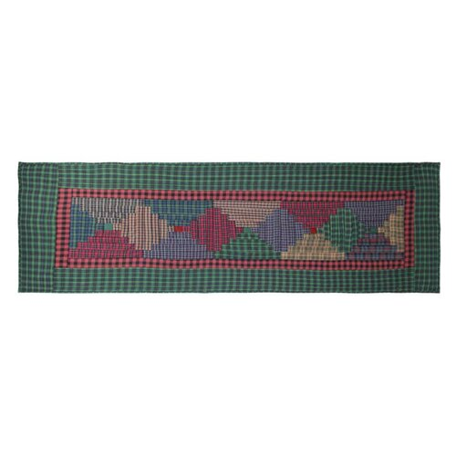 Patch Magic Tartan Log Cabin Bed Scarf