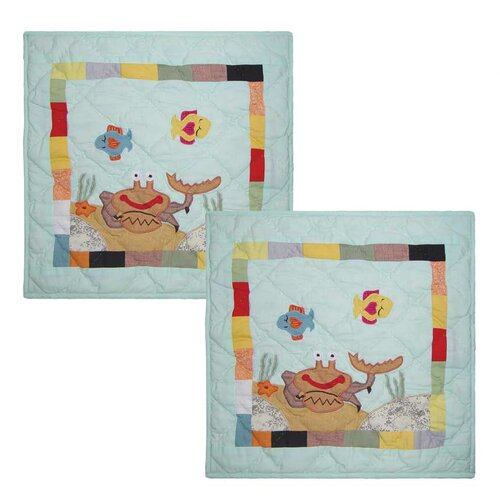 Kids Aquarium Cotton Toss Pillow (Set of 2)