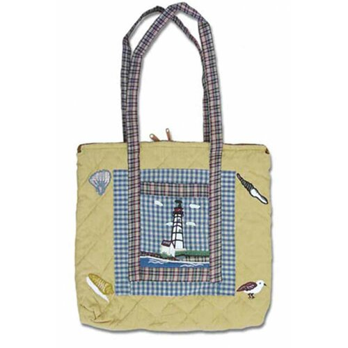 Lighthouse by Bay Tote Bag