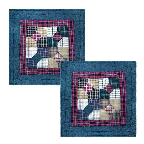 Bow Tie Cotton Toss Pillow (Set of 2)