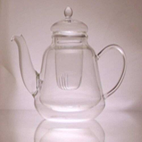 0.56-qt. Double Layer Glass Teapot