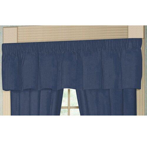 "Patch Magic Blue Dark Chambray Rod Pocket 54"" Curtain Valance"