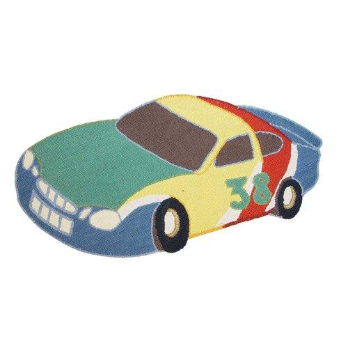 Patch Magic Racecar Multi-Colored Kids Rug