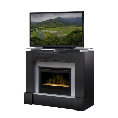 """Dimplex Jasper 48"""" TV Stand with Electric Fireplace with Embers"""