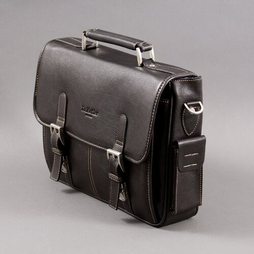 Dr. Koffer Fine Leather Accessories Calvin Leather Laptop Briefcase