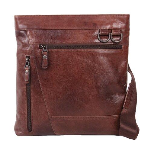 Rustic Zip Pockets Shoulder Bag