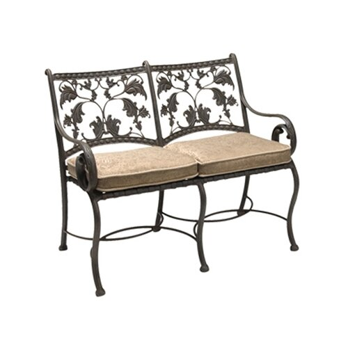 Woodard Landgrave Old Gate Metal Entryway Garden Bench