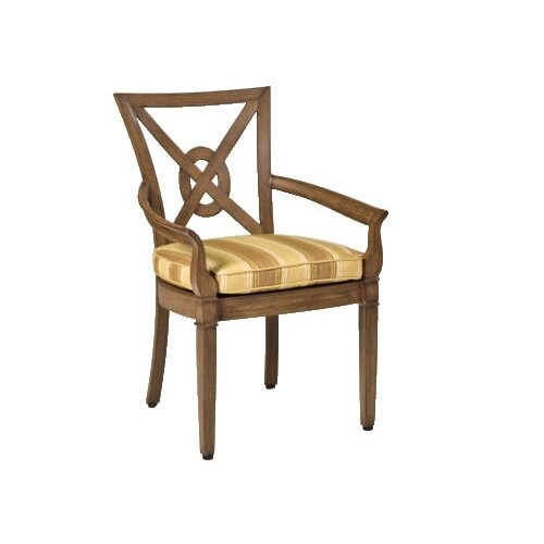 Woodard Landgrave Vienna Dining Arm Chair with Cushion