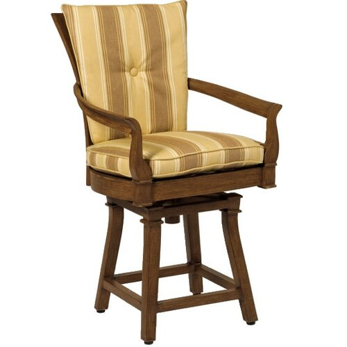 Woodard Landgrave Vienna Swivel Barstool with Cushions