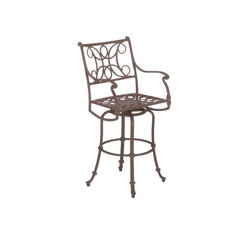 "Woodard Landgrave Chateau Swivel 28.5"" Barstool with Loose Cushion"