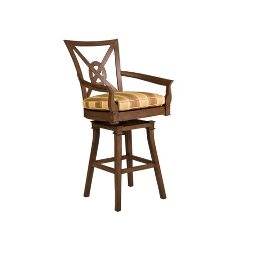 "Woodard Landgrave Vienna Swivel 32.2"" Barstool with Cushion"