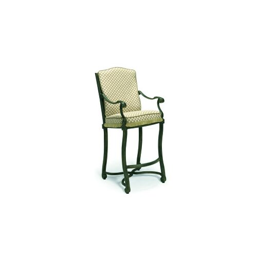 "Woodard Landgrave Villa Small Stationary 34"" Barstool with Cushions"