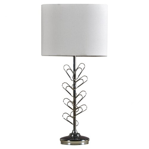 "StyleCraft Paper Clip 28"" H Table Lamp with Oval Shade"