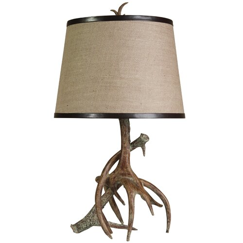 "StyleCraft Antler 26.5"" H Table Lamp with Empire Shade"