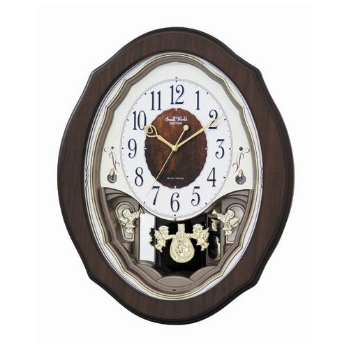 Rhythm U.S.A Inc Precious Angels Melody Wall Clock