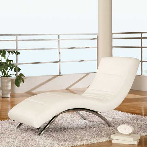 Global Furniture USA Leather Chaise Lounge