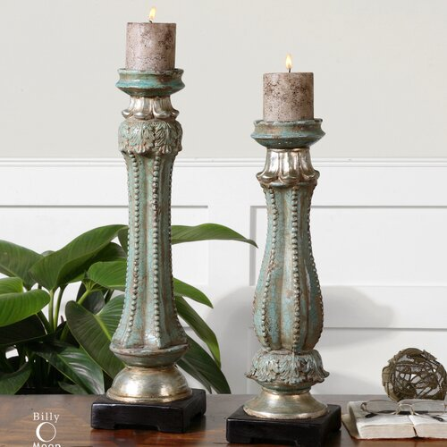 Uttermost Deniz Ceramic Candlesticks (Set of 2)