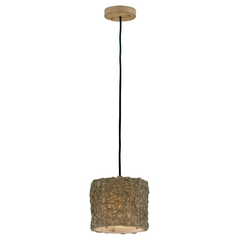 Uttermost Woven Rattan 1 Light Mini Pendant