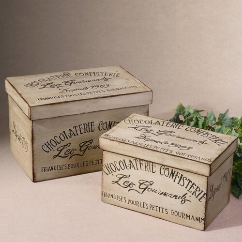 Uttermost 2 Piece Chocolaterie Box Set