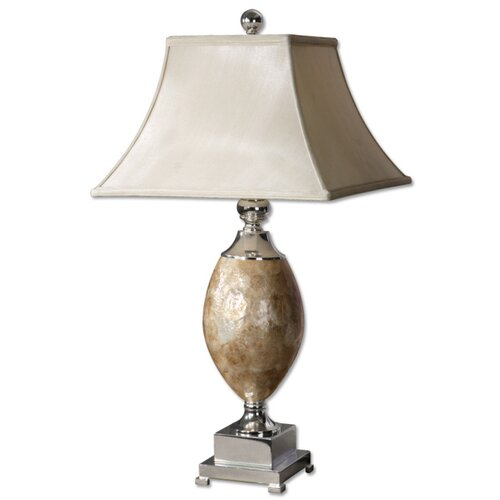"""Uttermost Pearl 32"""" H Table Lamp with Square Shade"""