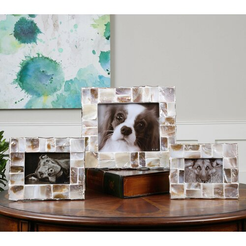 3 Piece Capiz Picture Frame Set