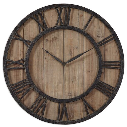 Uttermost Oversized 30 Powell Wall Clock Reviews Wayfair