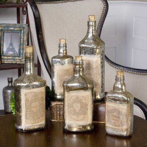 Uttermost 5 Piece Recycled Bottle Sculpture Set