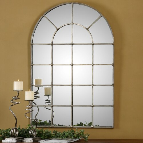 Uttermost barwell arch window mirror reviews wayfair for Arch window decoration