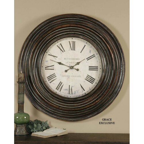 """Uttermost Oversized 38"""" Trudy Wall Clock"""