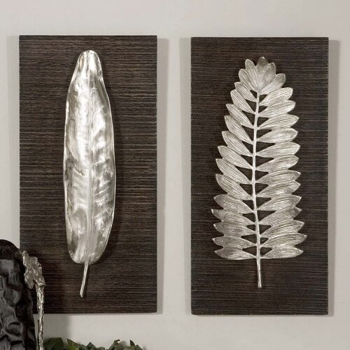 Uttermost 2 Piece Billy Moon Leaves Wall Décor Set