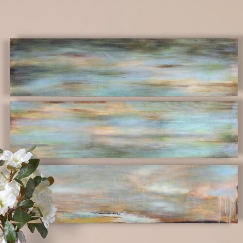 Uttermost Horizon View Panel by Grace Feyock 3 Piece Painting Print Set
