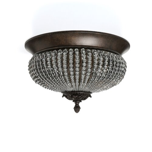 Uttermost Cristal de Lisbon 2 Light Flush Mount