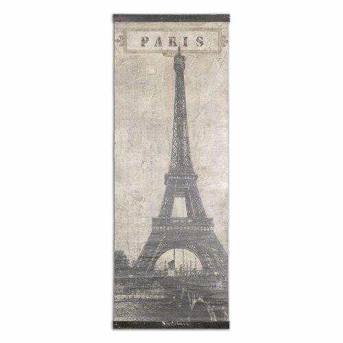 Eiffel Tower Paris Painting Print on Canvas