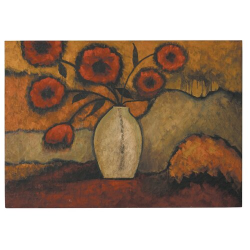 Red Poppies by Grace Feyock Original Painting on Canvas